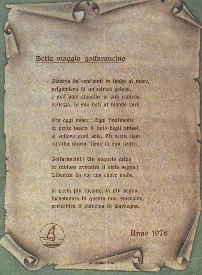 Poesia Sette maggio golfarancino